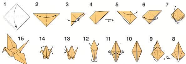 vouwinstructies kraanvogel 1
